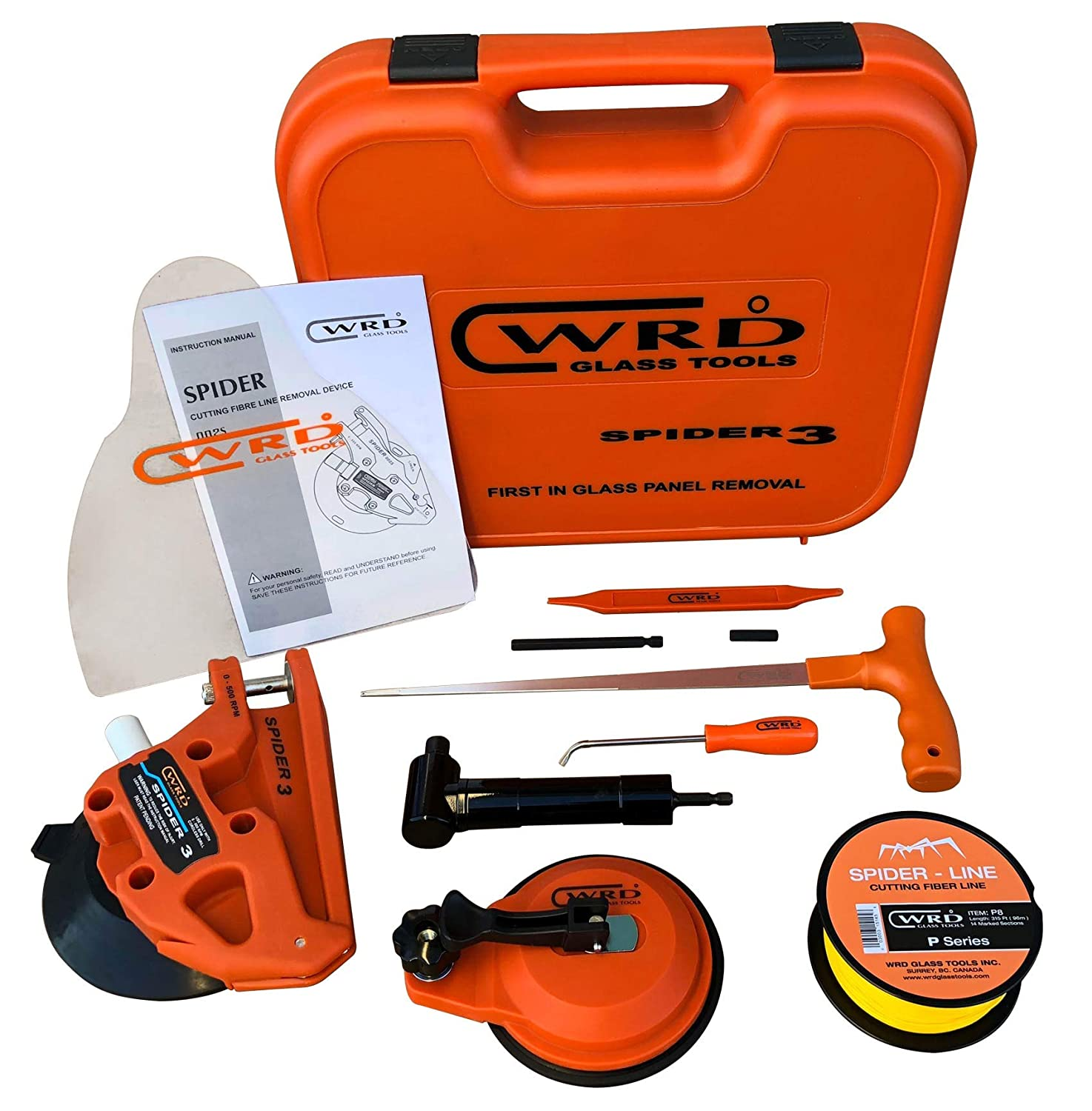 WRD S3 300W Spider 3 Kit 300 W Provides Safe and efficient auto Glass Panel Removal Windshield Removal kit