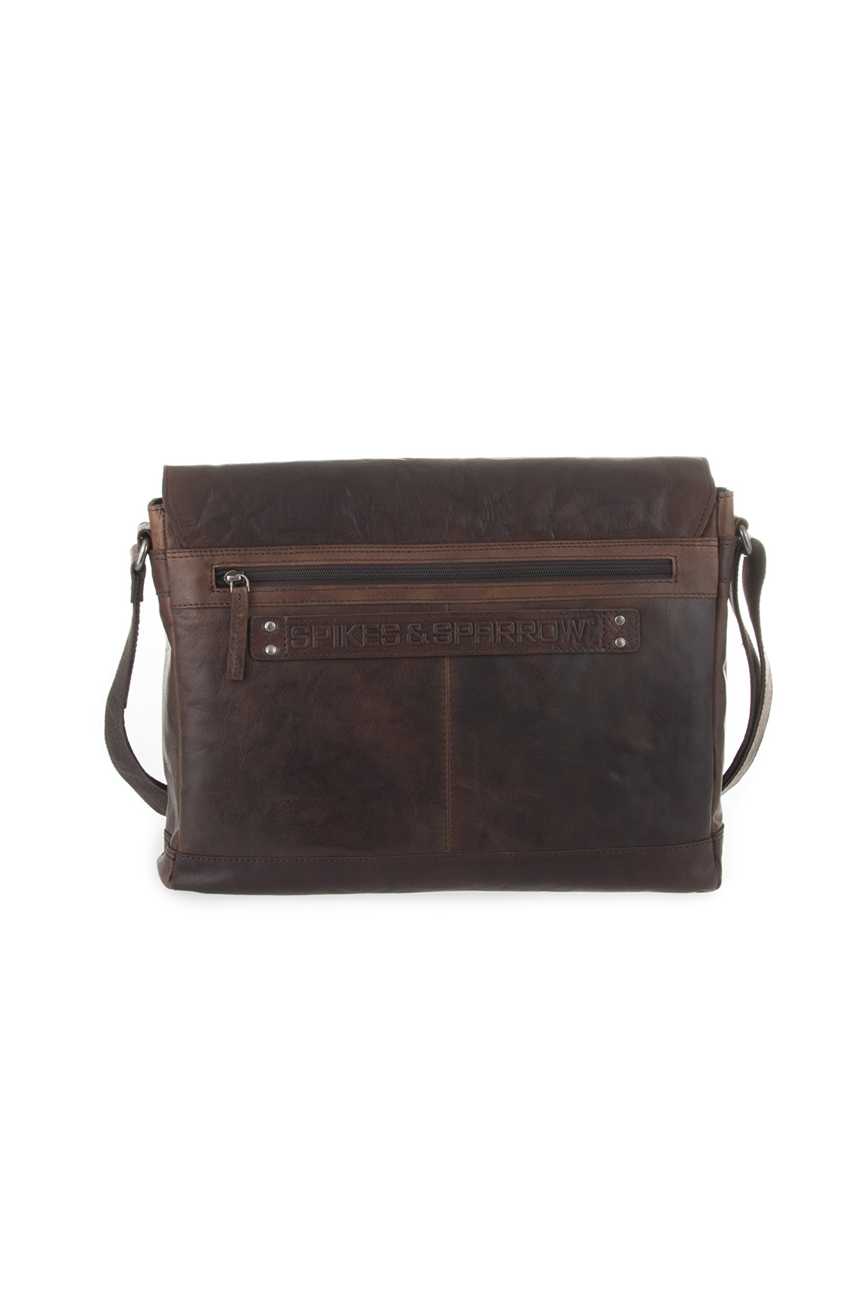 Spikes and Sparrow 594H14001 Noah Business Messenger Bag, Dark Brown by Spikes & Sparrow