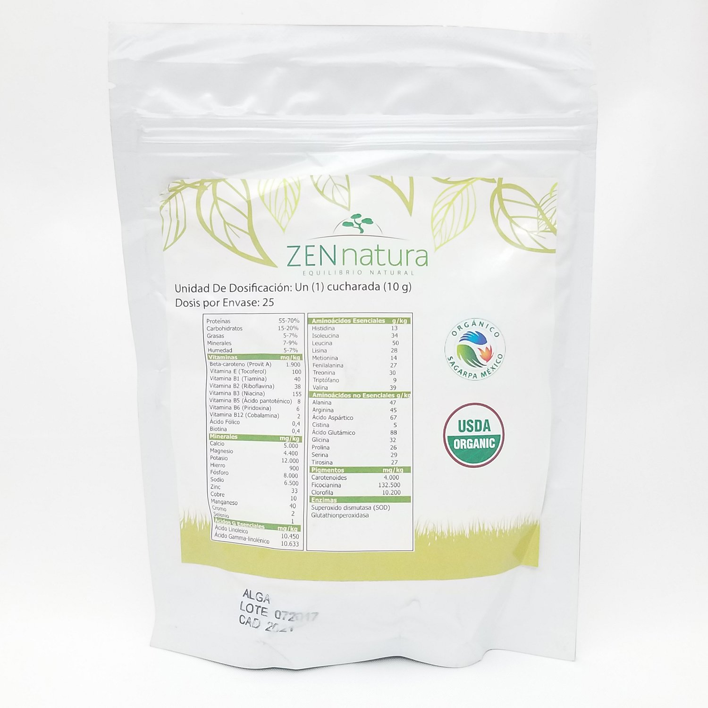 Amazon.com: Natural Organic Spirulina - ZENnatura Alga Espitulina Organica 250gr: Health & Personal Care