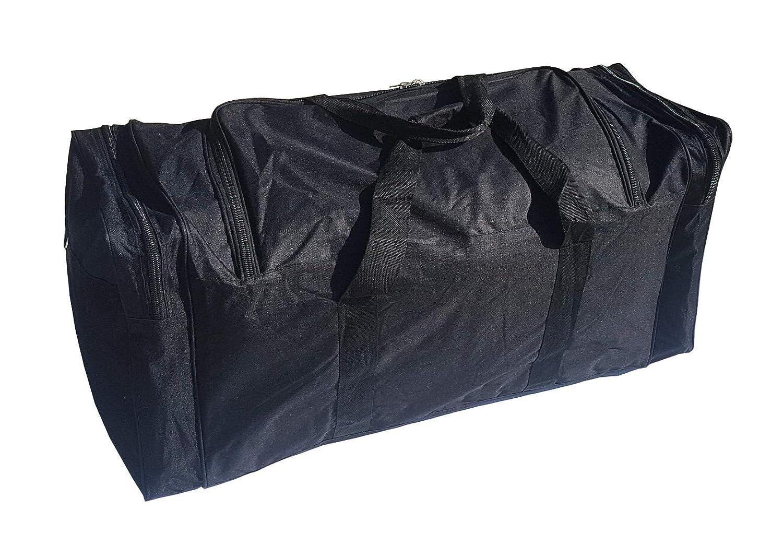 stockage Valise id/éale pour le sport Sac extra large Sport XXL de 110 litres la gym Unisexe Mat/ériaux tr/ès r/ésistants le voyage le camping Parfait pour stocker imperm/éables noire.