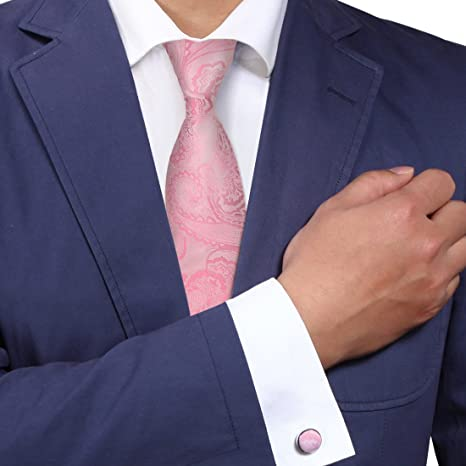 ec7c2e8c23c1 A8050 Designer Light Pink Wedding Ties Patterned Woven Silk Marriage Stain  Necktie 2PT By Y&G: Amazon.ca: Luggage & Bags