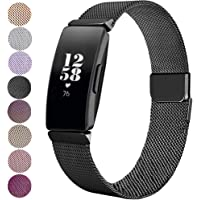 FitTurn for Fitbit Inspire HR Bands & Fitbit Inspire Straps Milanese Loop Mesh Stainless Steel Replacement Strap with Unique Magnet Lock Sport Band Straps Wristband for Fitbit Inspire HR & Fitbit Inspire Fitness Tracker Women Men
