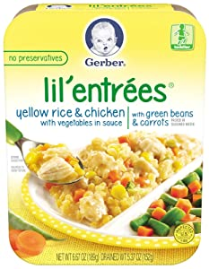 Gerber Lil' Entrees Yellow Rice & Chicken with Vegetables in Sauce with Green Beans & Carrots, 6.67 Ounce