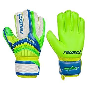 4320dad79 Boys Reusch Serathor Prime S1 Finger Support Junior Goalkeeper Gloves For  Football