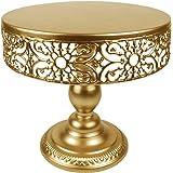 "Vivian's Bridal Gold Cake Stand Wedding Dessert Cupcake 10"" Round Cake Stands"