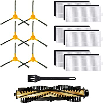 Filters W//  Side Brushes Replacement Kit For Tesvor X500 Robotic Vacuum Cleaner