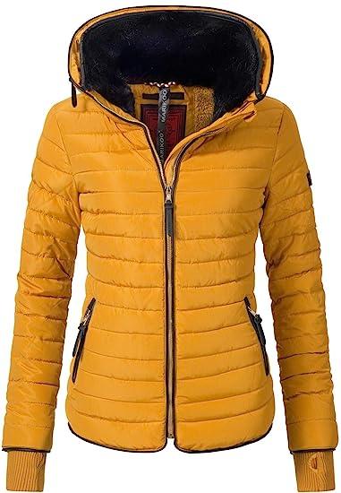 Marikoo Damen Jacke Winterjacke Steppjacke Yasmina (vegan hergestellt) 5 Farben XS XXL