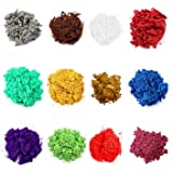 Mica Powder for Resin Set of 12 Colors Epoxy Pigment Powder for Candle, DIY Slime, Bath Bombs, Make up, Lip Gloss, Nail Art,