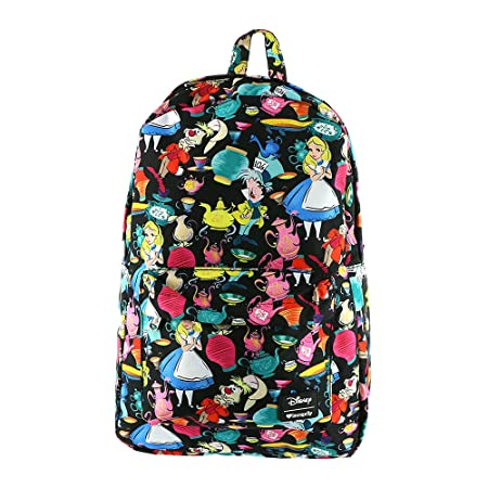 Loungefly Alice in Wonderland All Over Print Backpack , Black , Standard