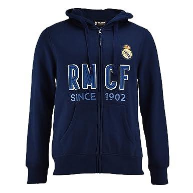 2dcc1cb56c349 Sudadera Real Madrid Capucha Abierta Adulto  Amazon.es  Ropa y ...