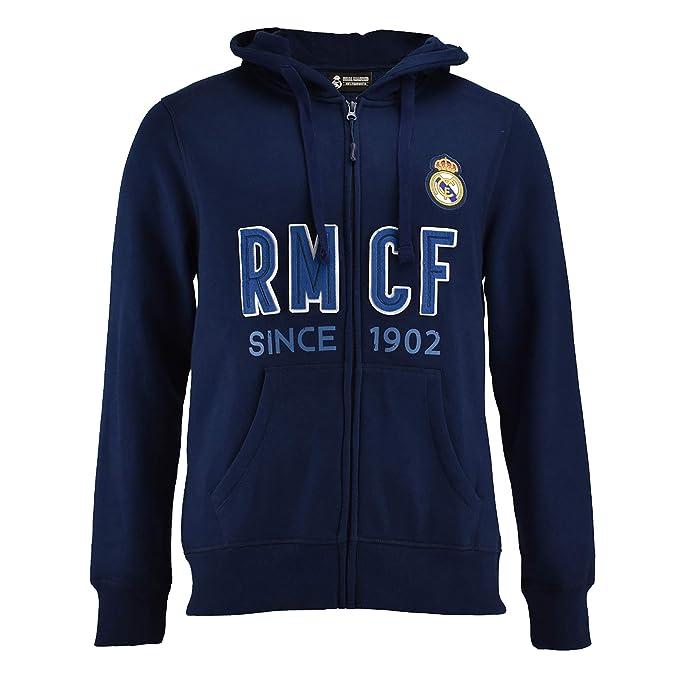 Sudadera Real Madrid Capucha Abierta Adulto  Amazon.es  Ropa y ... d1400bf057856