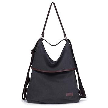 KOREY Bolsos Mujer,Mochila Casual de Lona, Personalidad de Moda Bolsa,Vintage Bolso Hombro Grandes,Bolso Shopper,Messenger Bag: Amazon.es: Equipaje