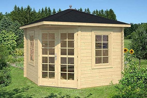 PRIKKER-Gartenhaus Jardín Casa Victoria – B40 Carpa 300 x 300 cm – 40 mm – con Soporte Suelo + acristalamiento.: Amazon.es: Jardín