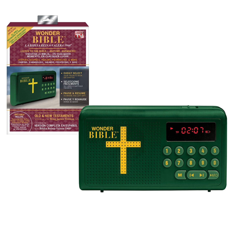 Amazon.com: Wonder Bible RVR60- The Talking Audio Bible Player in Spanish (La Biblia Reina-Valera 1960), As Seen on TV: Electronics