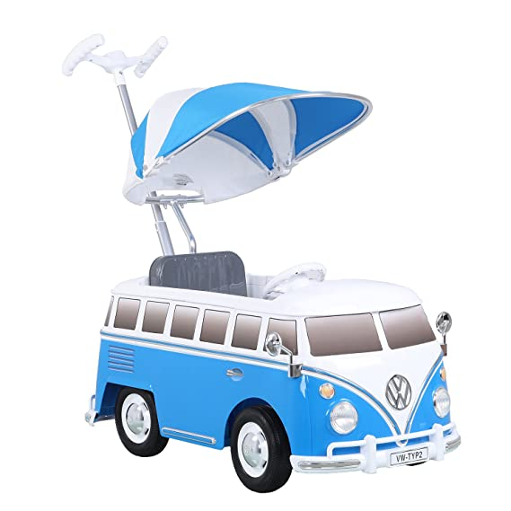 VW Bobby Car Alternative - Rollplay Rutscher VW Bus Blau
