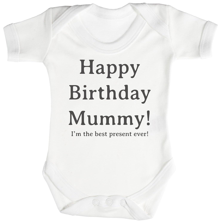 Baby Bodys Strampler Neugeborenen Blau TRS Clothing INC18BLNB Happy Birthday Daddy