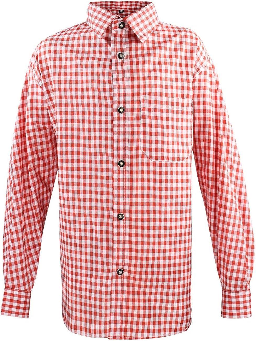 Alte Liebe Camisa de Traje Tradicional para niños Pantalones de Piel, Manga Larga, Oktoberfest, Traje Regional, Talla 104-164: Amazon.es: Ropa y accesorios