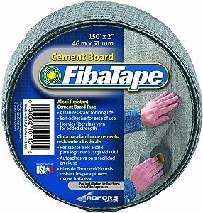 FibaTape FDW8436-U 2-Inch by 150-Feet Cement Board Tape-Alkali-Resistant/Self-Adhesive, Grey