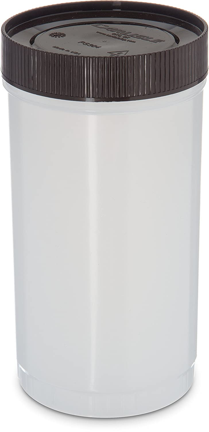 Carlisle PS602N00 Stor N' Pour Quart Backup Container with Assorted Color Caps, 1 Quart, Assorted (Pack of 12)