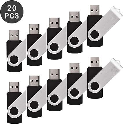 Portable Green 50 Pcs 1G 2G 4G 8G 16G 32G 2.0 USB Flash Drives Thumb Storage