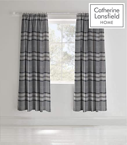 Easy Care Cotton Rich Kelso Check Pair of Curtain
