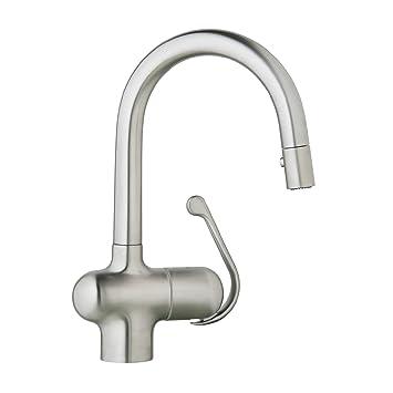 Grohe 32256sd0 LADYLUX Pro Pull-Down Spray Kopf Küchenarmatur 0.375 ...