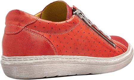 Chacal Shoes - Zapatillas de Mujer en Piel - Máximo Confort - Zapatos Casual de Cuero 100% - Cordones algodón - Fácil Calzado - EU 36 a EU 41