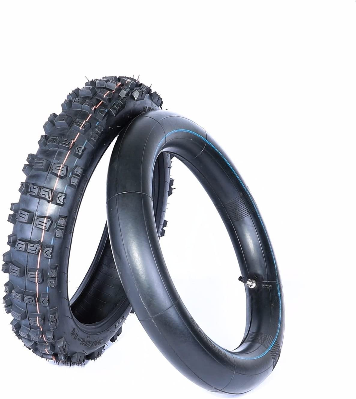 14 Inch Tires >> Amazon Com 14 Inch Rear Knobby Tire And Tube Bigfoot Pit