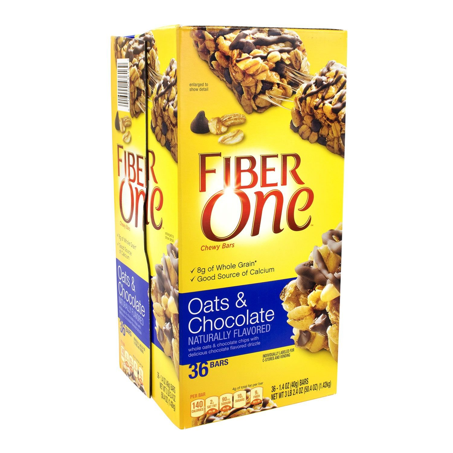 Fiber One Oats and Chocolate Chewy Bars (1.4 oz., 36 ct.) (pack of 2) by Fiber One