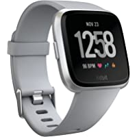 Fitbit Versa Smartwatch, Gray/Silver Aluminium, One Size (S & L Bands Included)