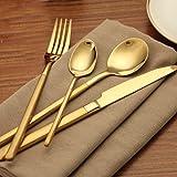 Cutlery Set 4 Pcs,Ankooki Luxury 18/10 Stainless Steel Flatware Cutlery Set