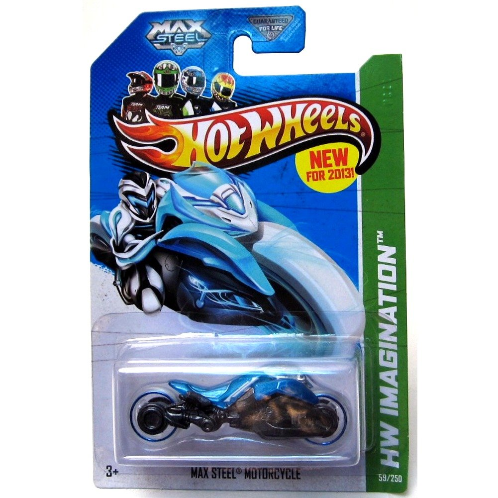 Hw hot wheels 2015 hw city 48 250 canyon carver police motorcycle - Amazon Com 2013 Hot Wheels Hw Imagination Max Steel Motorcycle Blue Holiday Gifts Toys Games