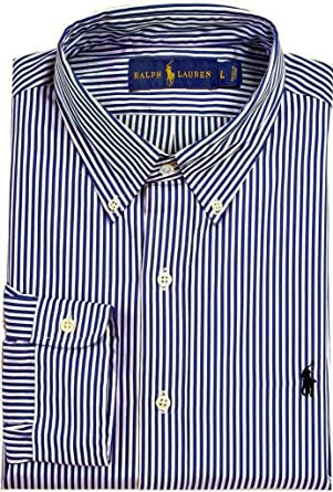 aa3a37cfb Polo Ralph Lauren Men s Bengal-Striped Poplin Shirt at Amazon Men s ...