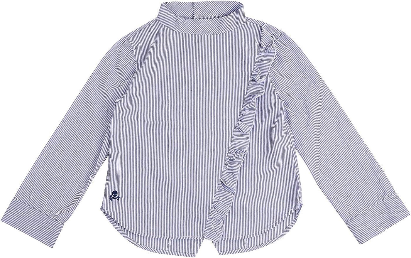 Scalpers Camisa Mao Volantes - Blue / 4: Amazon.es: Ropa