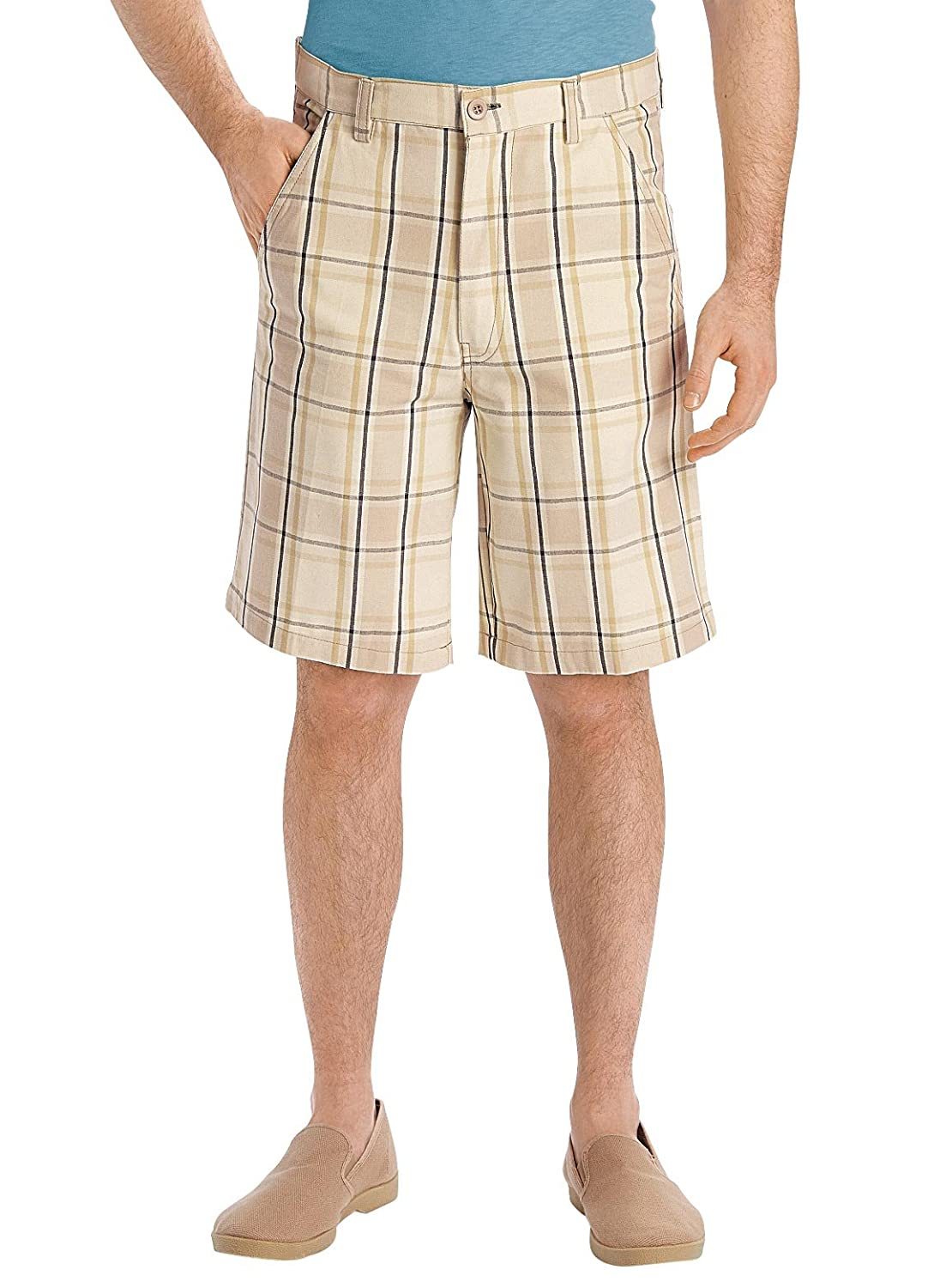 Men's Vintage Style Pants, Trousers, Jeans, Overalls Carol Wright Gifts Mens Plaid Shorts $7.99 AT vintagedancer.com