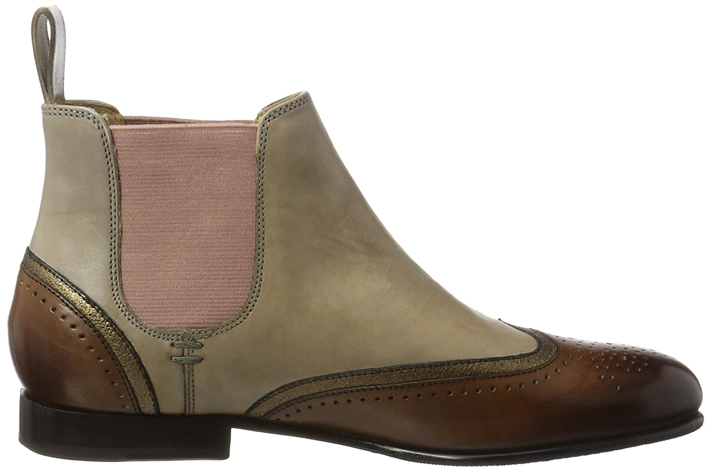 Melvin & Hamilton Damen Jessy 1 Chelsea Boots, Braun (Crust/Tan/Ela Purple/LS-Nat), 39 EU