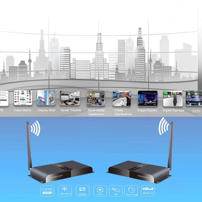 J-Tech Digital ® HDbitT Series Wireless HDMI Extender Supporting ...