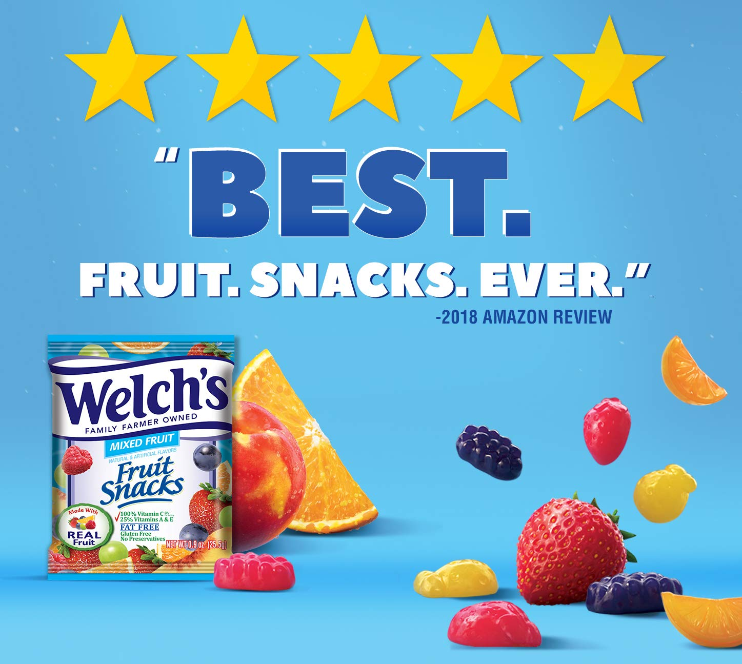 Welch's Mixed Fruit Snacks, 0.9 Ounce (40 Count) by Welch's (Image #5)