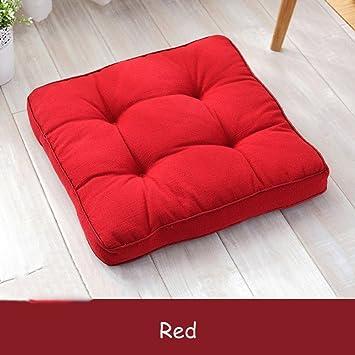 Amazon.com: Algodón y lino cojín cuadrado de silla Pad Cojín ...