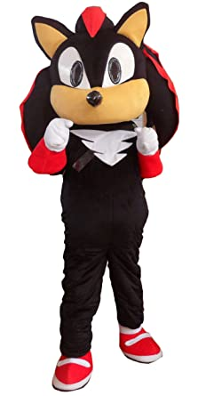 063fa791744e Amazon.com  ProCostume Shadow the Hedgehog Black Sonic Mascot Costume Fancy  Dress Outfit Suit EPE  Clothing