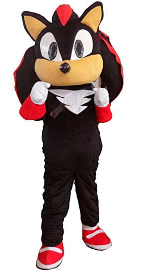 fffc3cb7857 Amazon.com  ProCostume Shadow the Hedgehog Black Sonic Mascot Costume Fancy  Dress Outfit Suit EPE  Clothing
