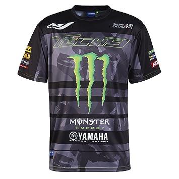Monster Tech3 18T3M-AOPT-XL Camiseta, Hombre, Negro/Verde, FR