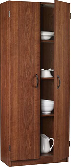 Ameriwood 7339091Y Double Storage Pantry, 24 Inch Wide, Cherry