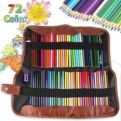 Nakeey - Juego de 72 lápices de colores, acuarela, para adultos, niños, para colorear y dibujar: Amazon.es: Oficina y papelería