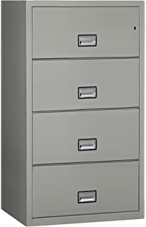 Phoenix Lateral 31 inch 4-Drawer Fireproof File Cabinet - Light Gray
