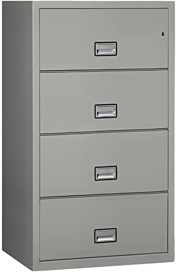 Phoenix Lateral  Drawer Fireproof File Cabinet Light Gray