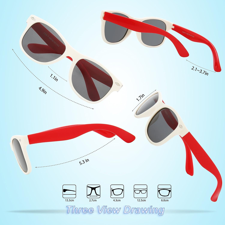 61d9f0b3ce Rivbos Goma Niños Gafas de sol polarizadas con correa gafas para ...