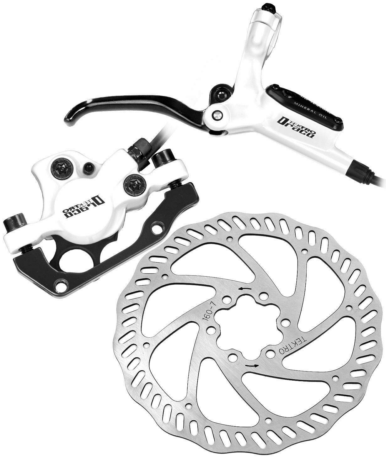 Tektro Draco Hydraulic Disc Brake Set with Levers Calipers and Rotors