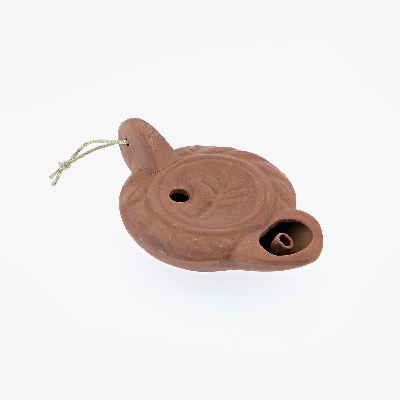 Lampada ad olio in ceramica, antico disegno, fiamma singola, marrone, fatto a mano, interno e esterno, lunghezza 14cm (5.5 '') da Elitecrafters