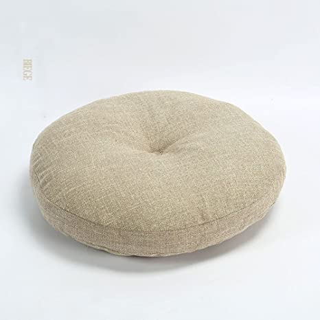 Sqinaa Round Extra Thick Chair Cushion Lumbar Support Pillow Seat Cushion For Home Office Indoor Outdoor Chair Pads A Diameter 40cm 16inch